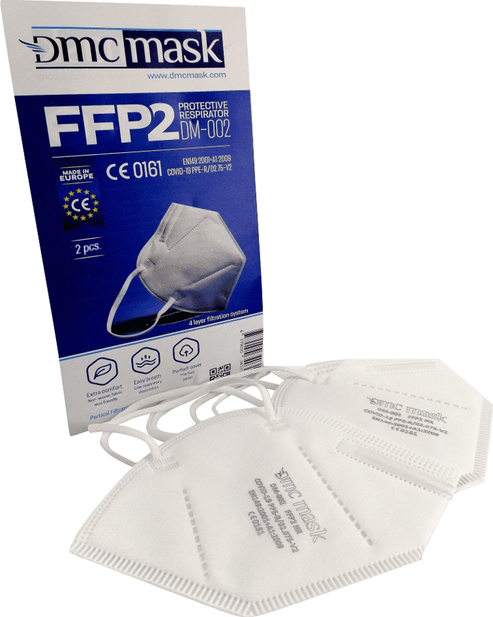 600 gab FFP2 Respirators-aizsargmaska DMC DM-002