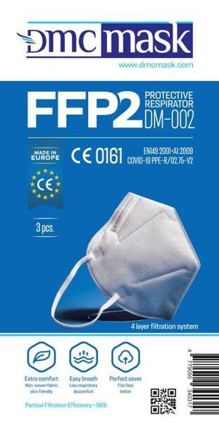 1 gab FFP2 Respirators-aizsargmaska DMC DM-002