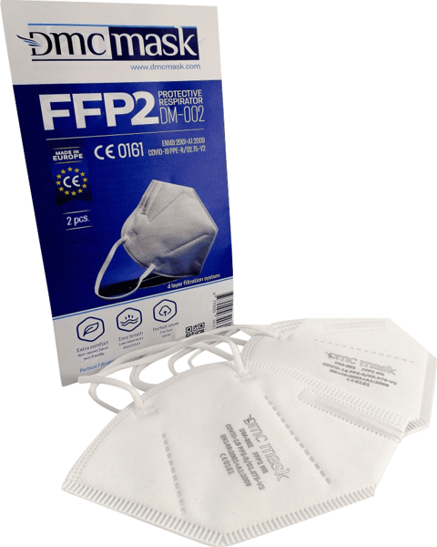 20 gab FFP2 Respirators-aizsargmaska DMC DM-002