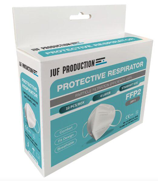 10 GAB FFP2 RESPIRATORS-AIZSARGMASKA JUF-1